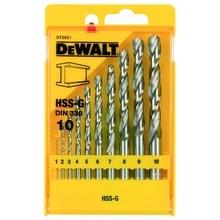 DeWalt DT5921 - Sada vrtáků do kovu HSS-G (10 ks)